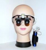 Бинокулярные лупы призматические с led подсветкой Magnifier х5,0-420/LED