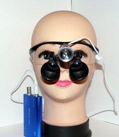 Бинокулярные лупы с led подсветкой Magnifier х3,5-420/LED